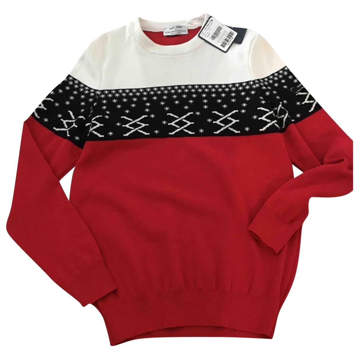 Saint James - Pull   pour femme en laine - rouge