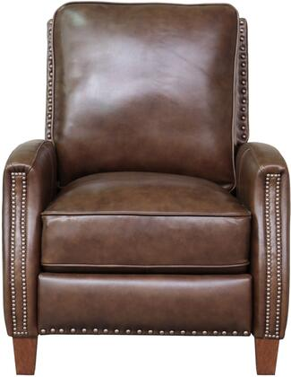 Melrose Collection 73155570286 31 Recliner with Footrest Extension  Nail Head Trim  Tapered Legs  Pocket Coil Spring Seating  High Resilience Seat