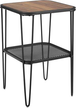 AF16LOSTDW 16 Urban Industrial Mesh Metal Shelf Hairpin Leg Side Table in Dark