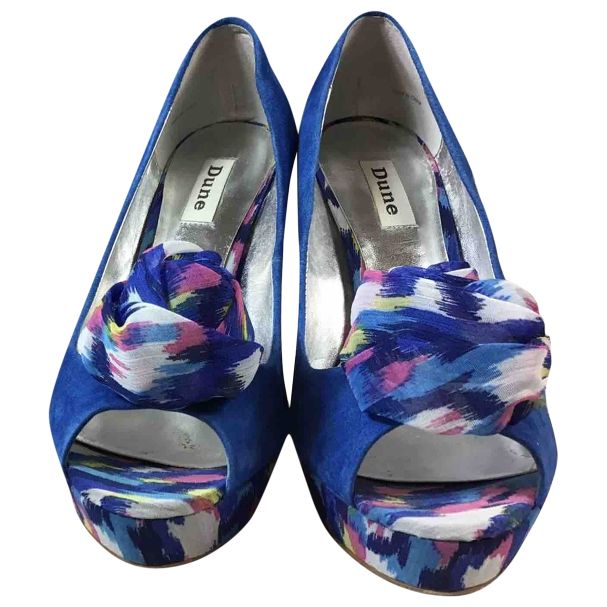 Dune \N Blue Cloth Heels for Women 7 UK