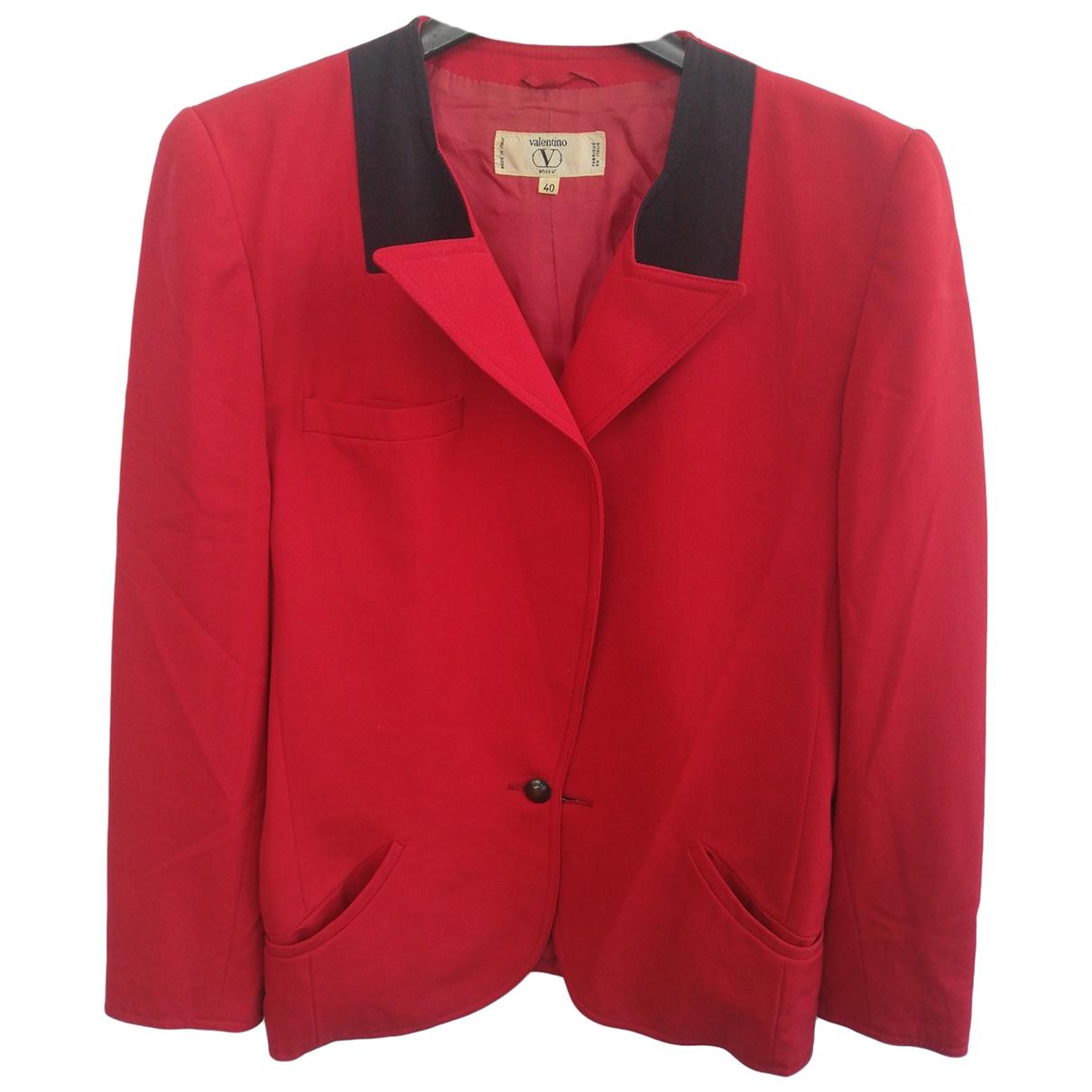 Valentino Garavani \N Red Wool jacket for Women 40 IT