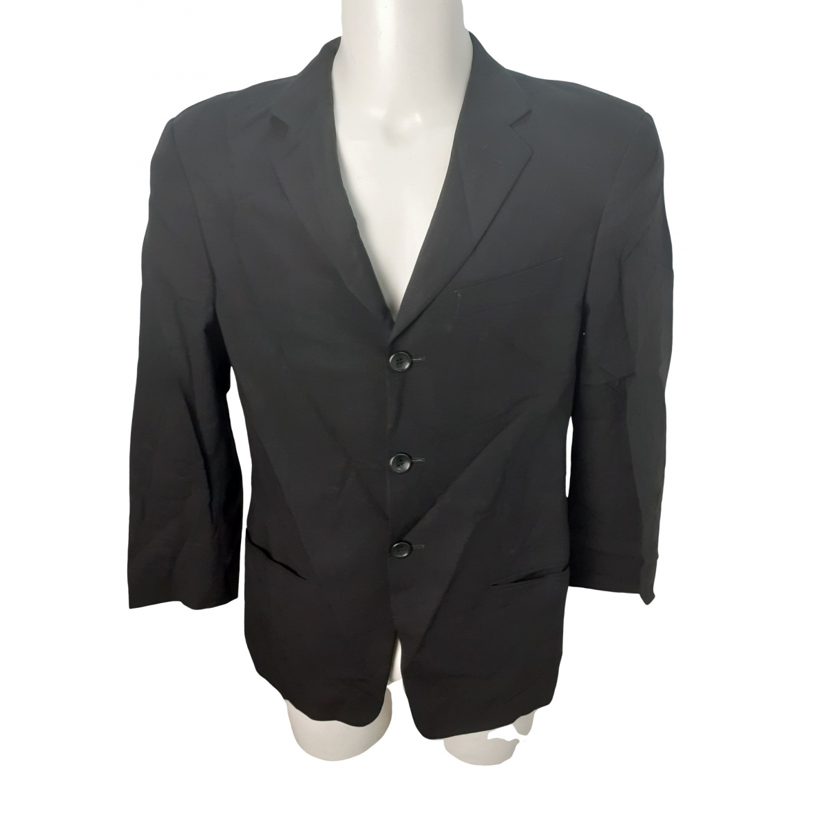 Armani Collezioni \N Black Wool jacket  for Men 46 IT