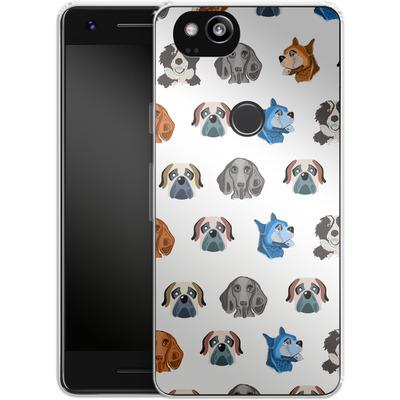 Google Pixel 2 Silikon Handyhuelle - Dog Love von Mukta Lata Barua