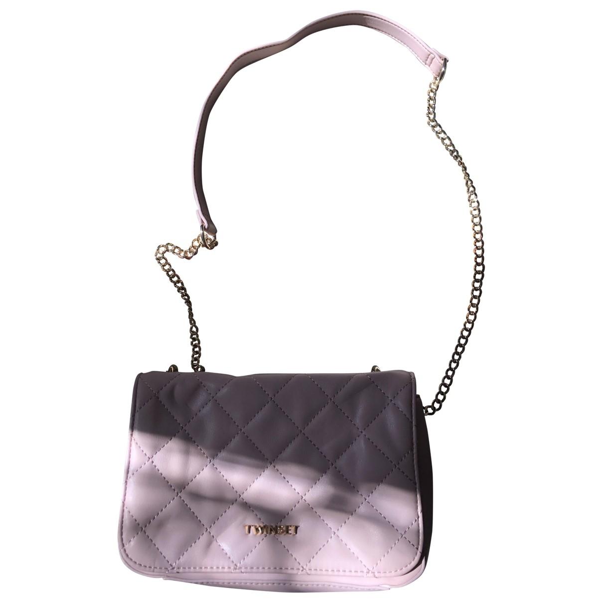 Twin Set \N Pink Patent leather handbag for Women \N