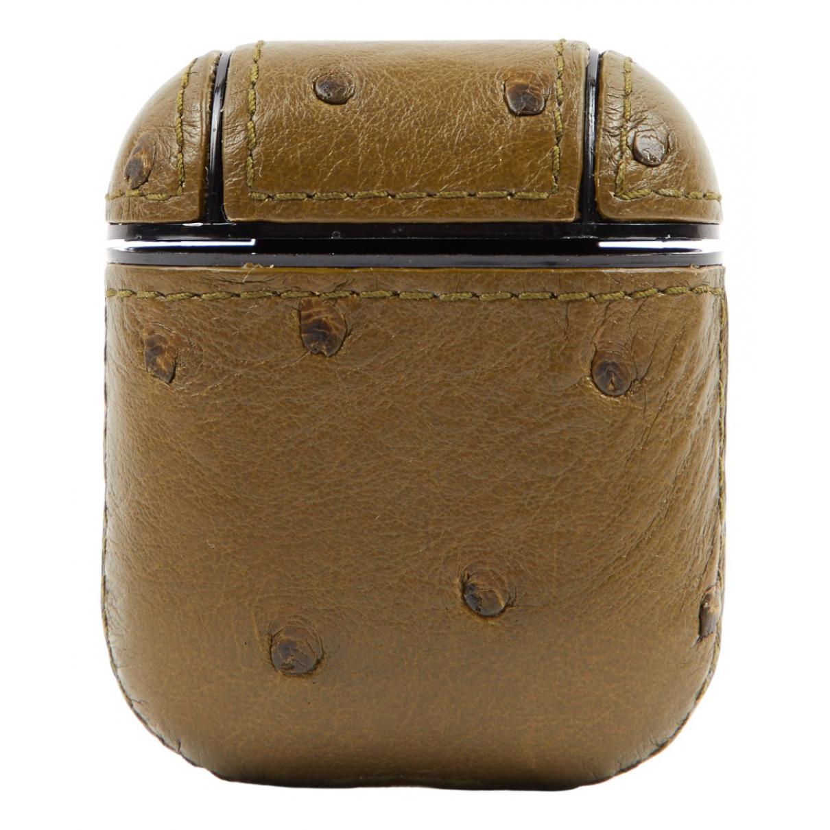Bottega Veneta - Accessoires   pour lifestyle en autruche - kaki