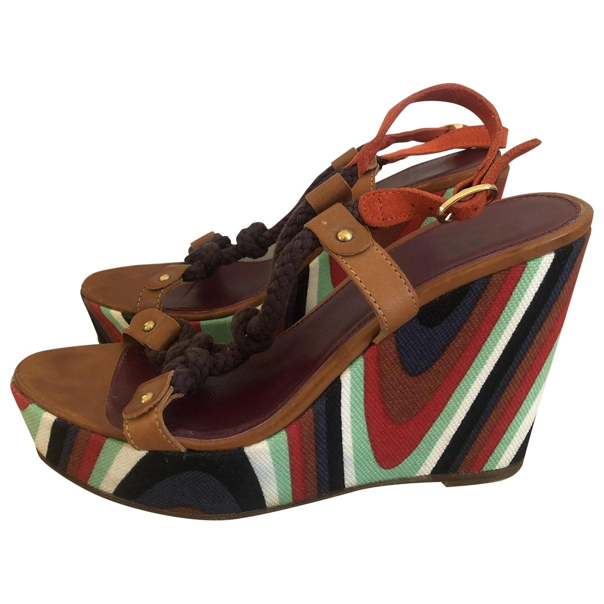 M Missoni - Sandales   pour femme en toile - multicolore