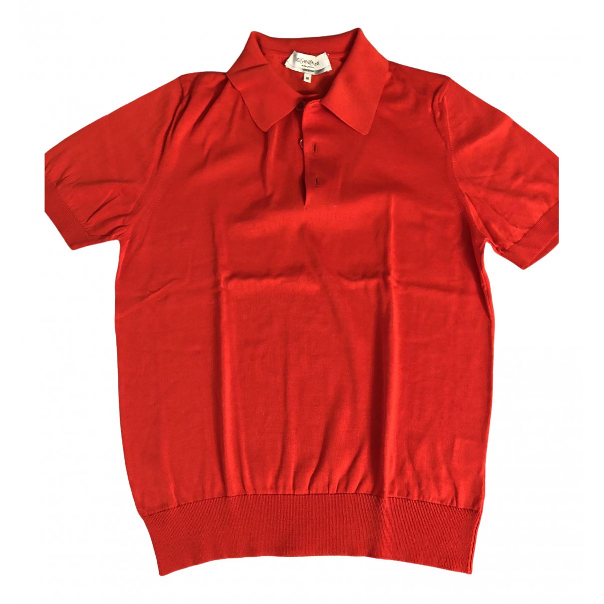 Yves Saint Laurent - Polos   pour homme en coton - rouge