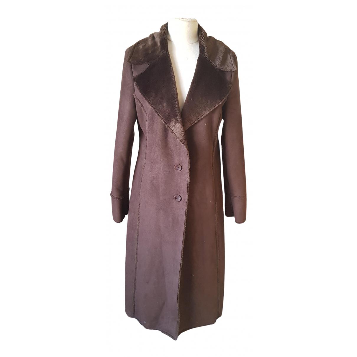 Balmain \N Brown coat for Women 40 FR