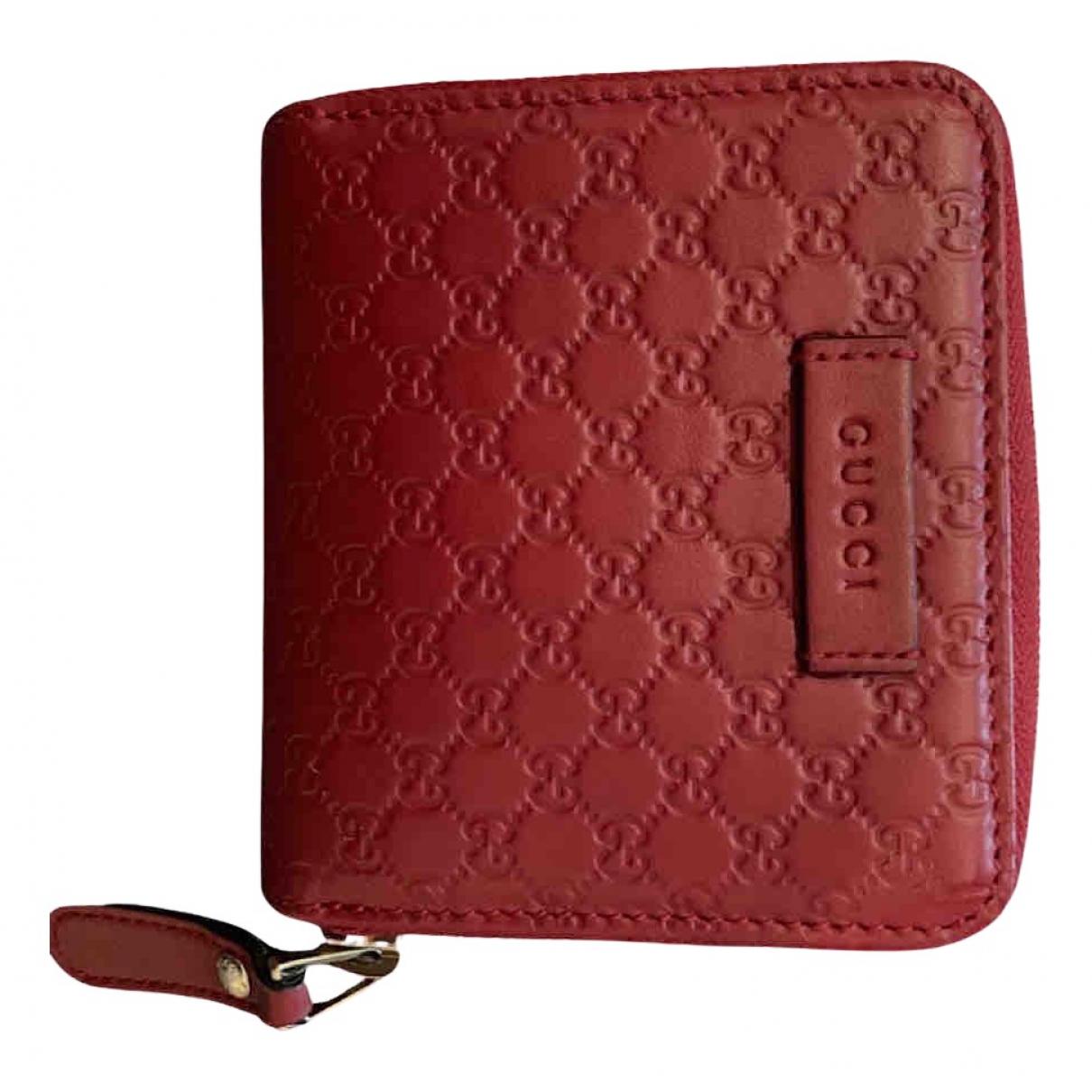 Gucci - Portefeuille Continental pour femme en cuir - rouge