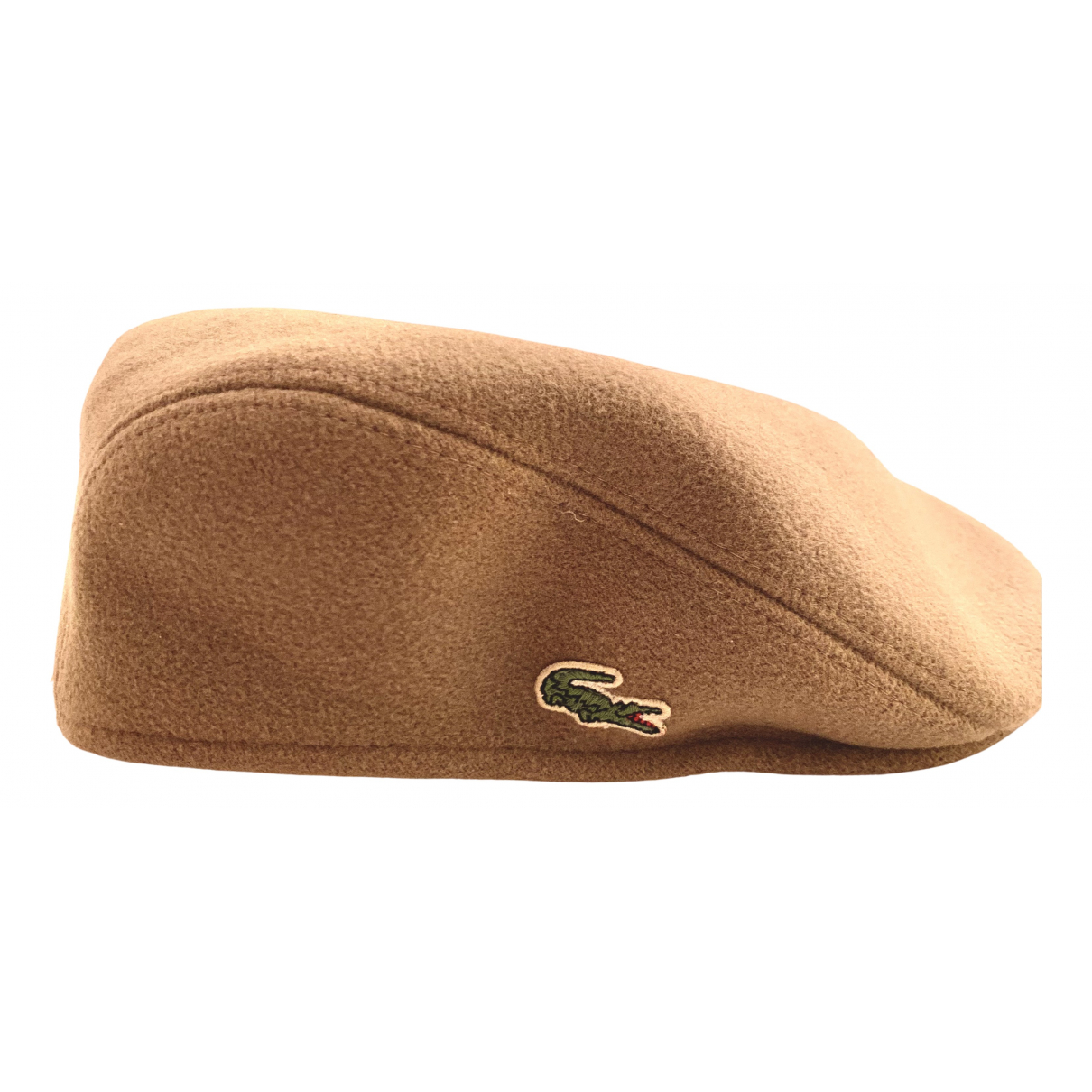 Lacoste - Chapeau & Bonnets   pour homme en laine - beige