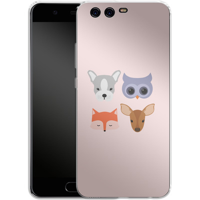 Huawei P10 Silikon Handyhuelle - Animal Friends on Pink von caseable Designs