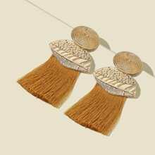 Tassel Decor Drop Earrings