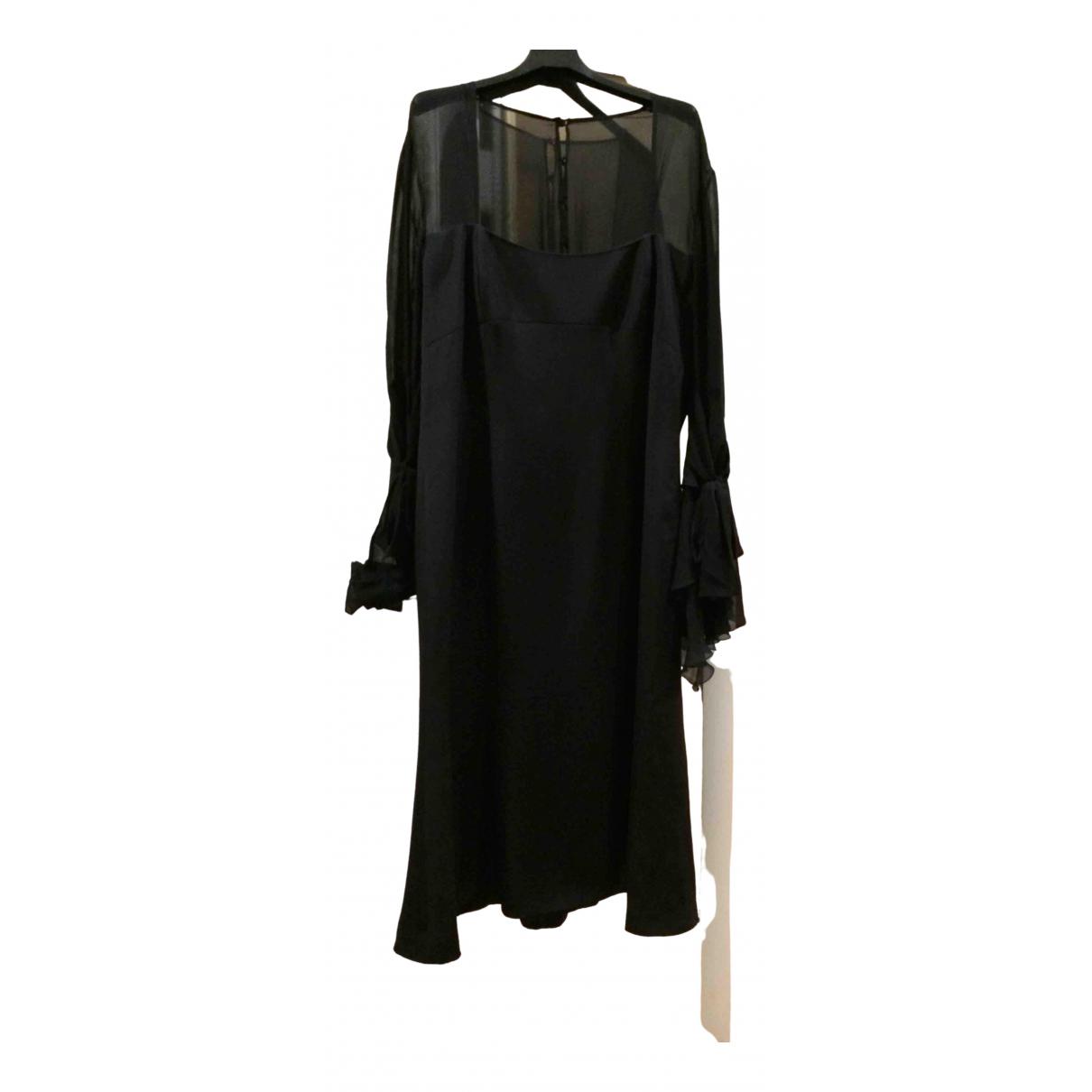 Vestido midi de Seda Escada