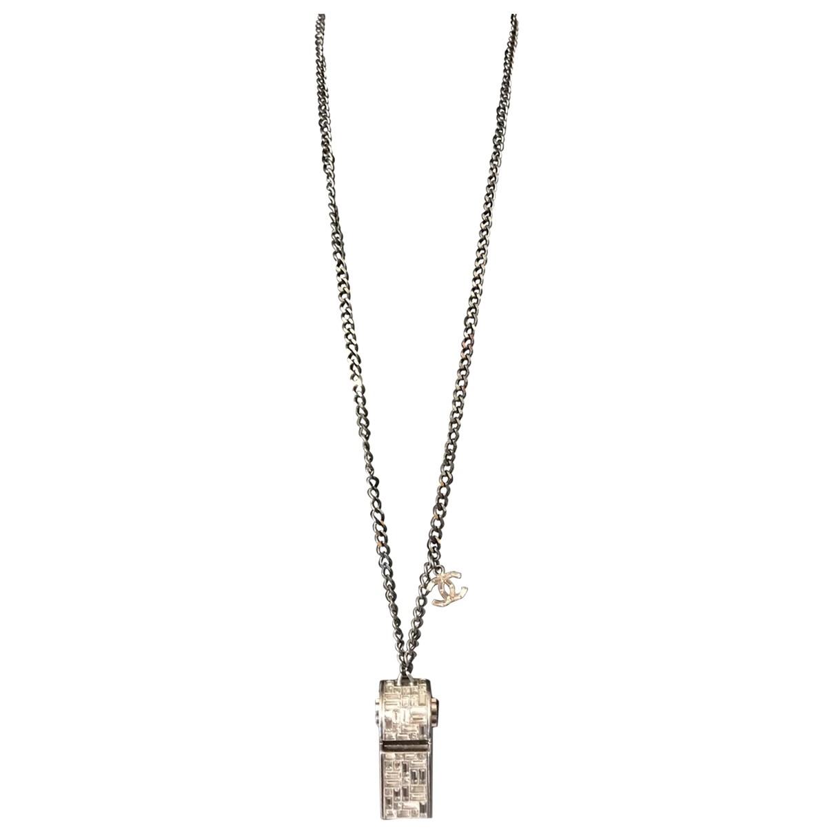 Chanel - Sautoir   pour femme en metal - argente