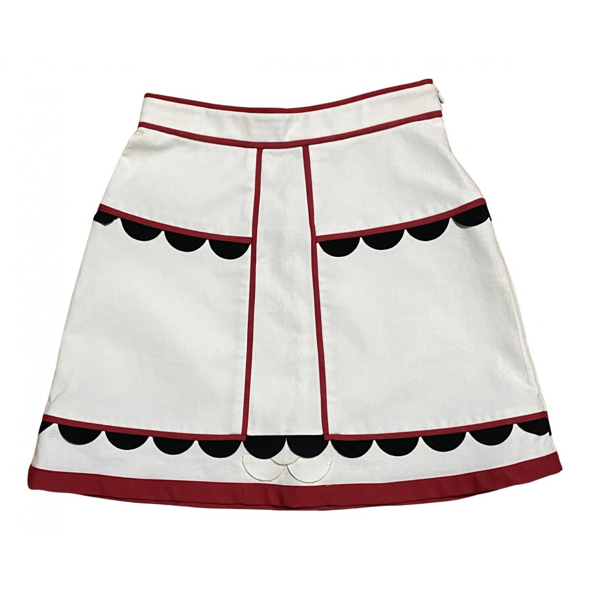 M Missoni - Jupe   pour femme en soie - blanc