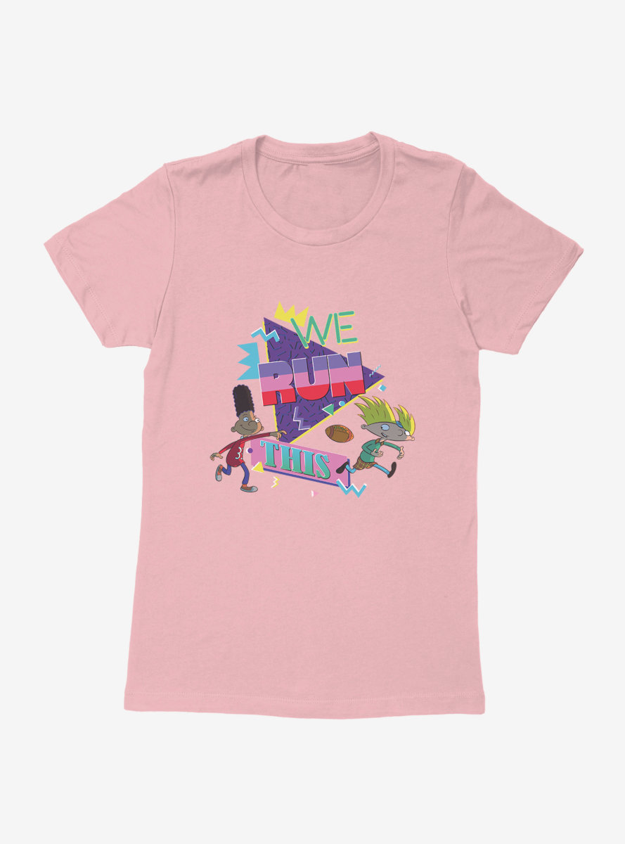Hey Arnold! Football We Run This Womens T-Shirt