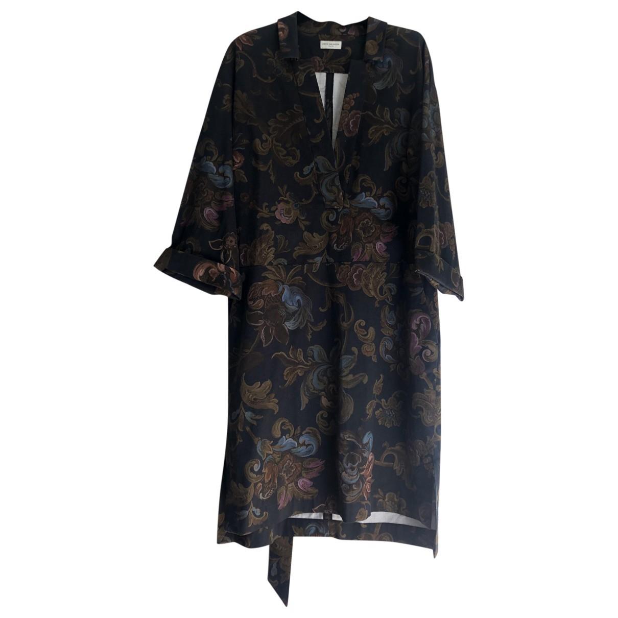 Dries Van Noten \N Brown Cotton - elasthane dress for Women 48 IT