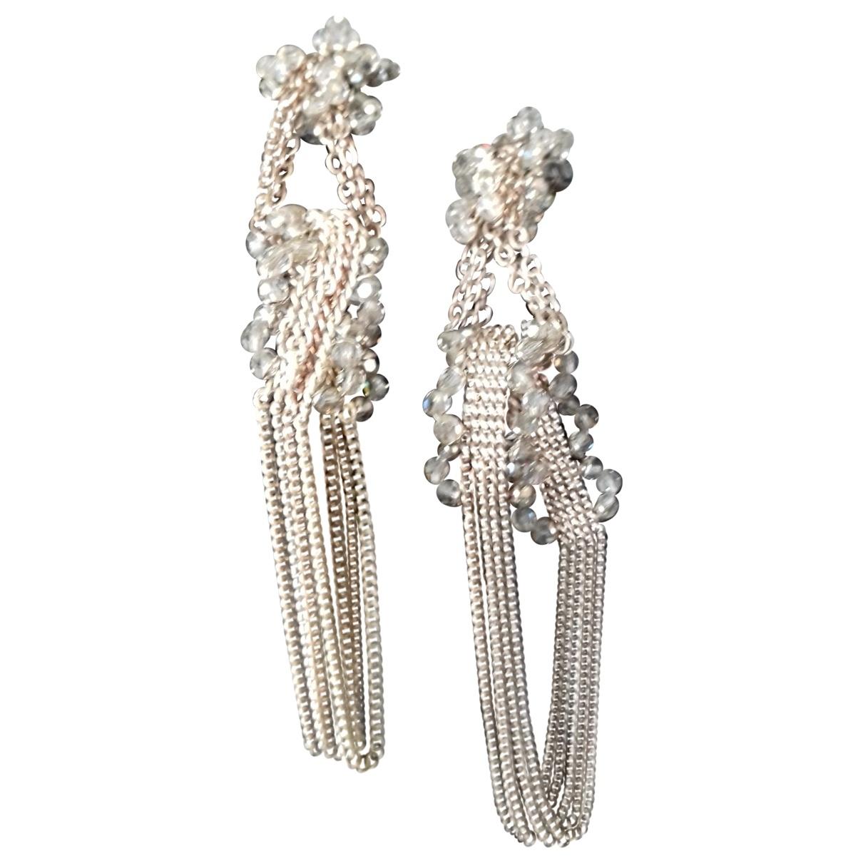 Swarovski - Boucles doreilles   pour femme en metal - argente