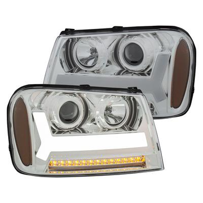Anzo Projector Plank Style Headlights (Chrome/Amber) - 111391