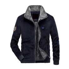 Kord Jacke mit Buchstaben Flicken und Sherpa Futter