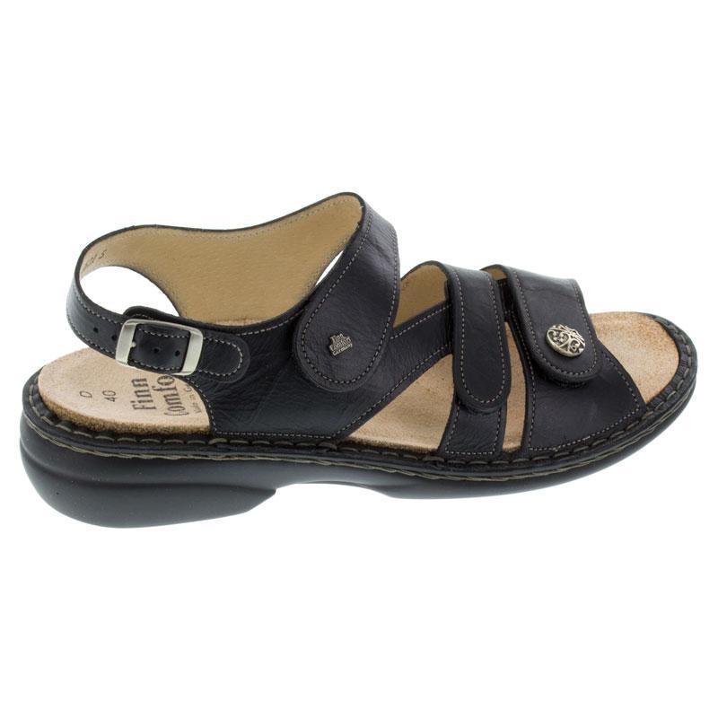 Finn Comfort Gomera Black Leather Soft Footbed 39