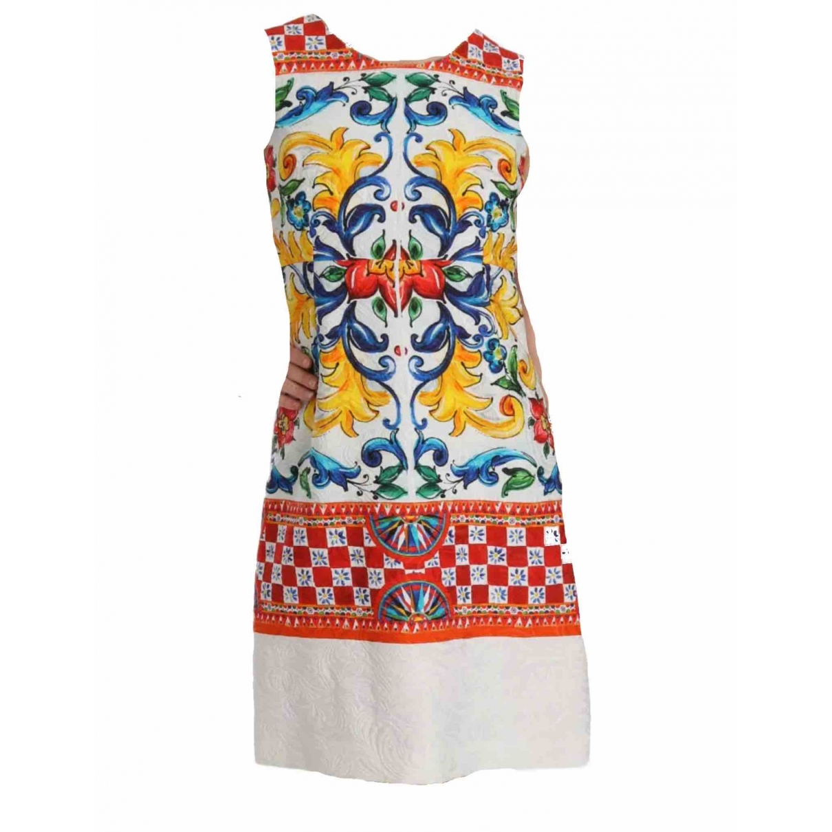 Dolce & Gabbana \N Multicolour Cotton dress for Women 40 IT