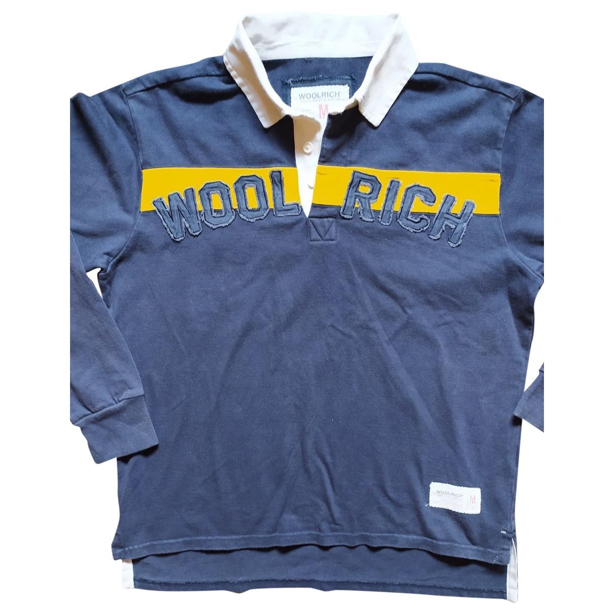 Woolrich - Polos   pour homme en coton - bleu