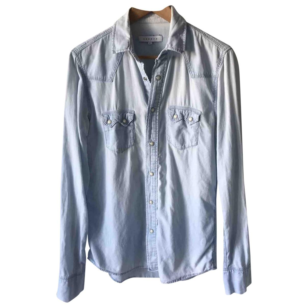 Sandro \N Blue Cotton Shirts for Men S International