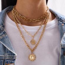 1 Stueck Muenze Charme geschichteten Kette Halskette