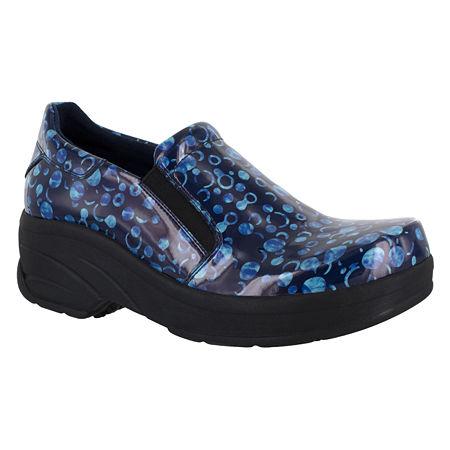 Easy Works By Easy Street Womens Appreciate Work Shoes, 7 Wide, Blue