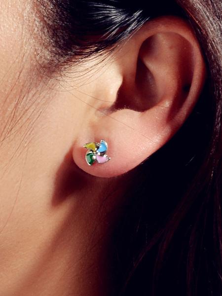 Milanoo Windmill Earrings Women Jewelry Stud Earrings