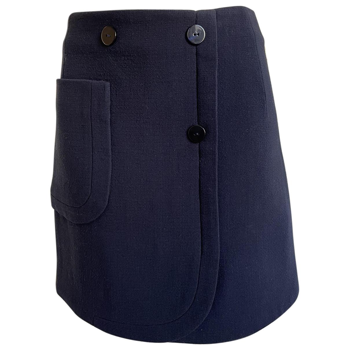 Carven - Jupe   pour femme en laine - bleu