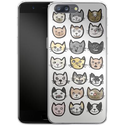 OnePlus 5 Silikon Handyhuelle - 28 Cats von caseable Designs