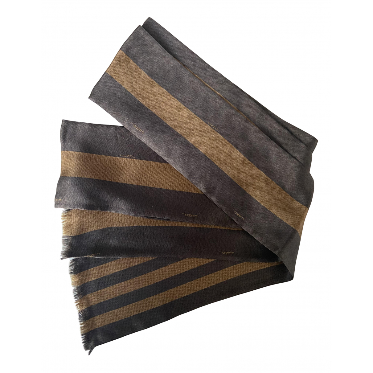 Fendi \N Brown Silk scarf for Women \N