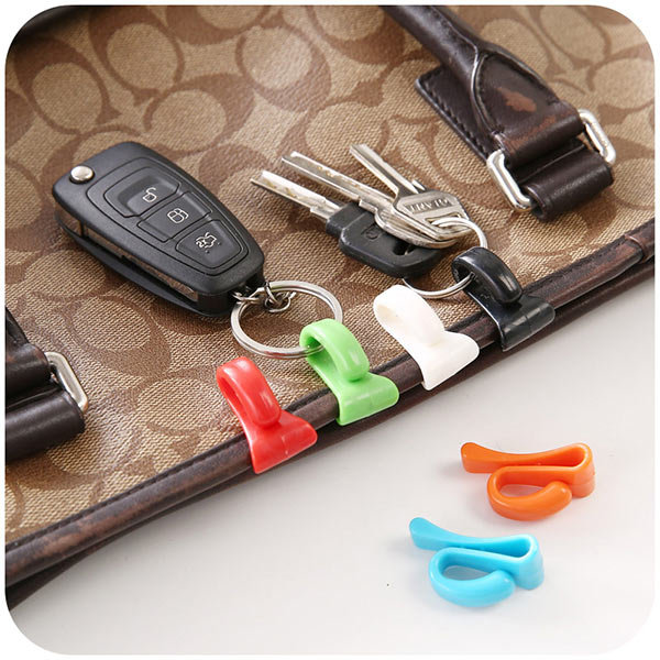 2pcs Creative Anti Lost Key Hooks Key Inside Holders Colorful Key Clips