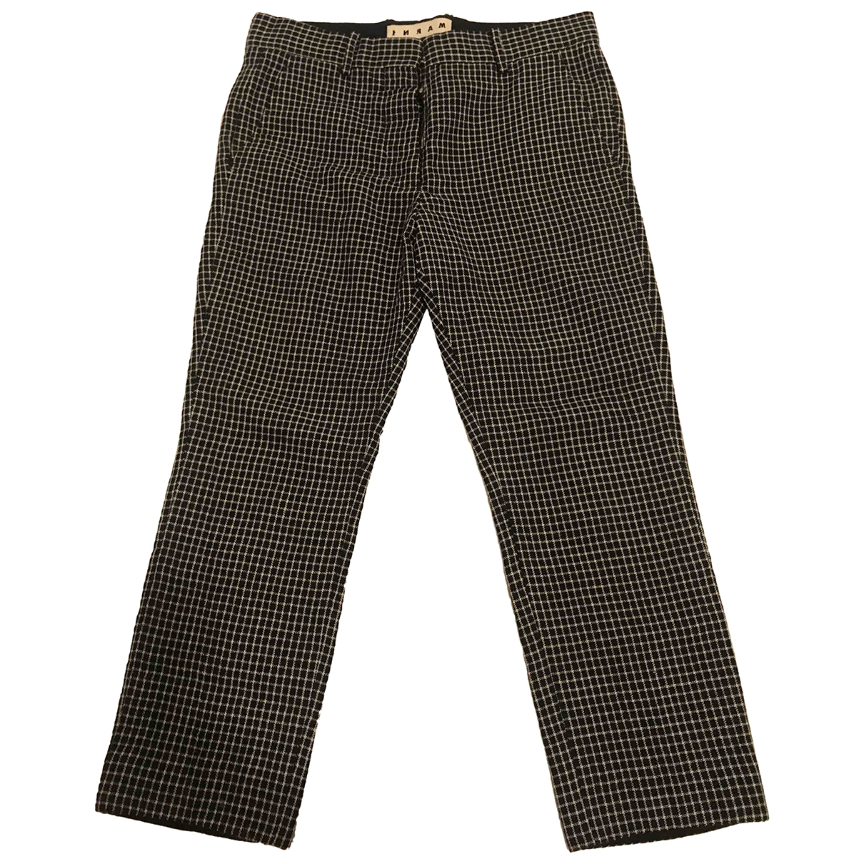 Marni \N Navy Cotton Trousers for Men 46 IT