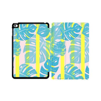 Apple iPad mini 4 Tablet Smart Case - Linocut Monstera Neon von Bianca Green