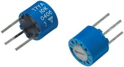 Vishay 100Ω, Through Hole Trimmer Potentiometer 0.5W Top Adjust , T7 (5)