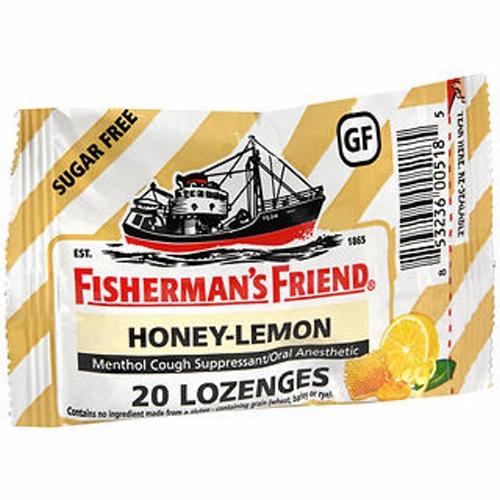 Fisherman's Friend Menthol Cough Suppressant - Oral Anesthetic Honey-Lemon Lozenges 20 Each by Fisherman's Friend