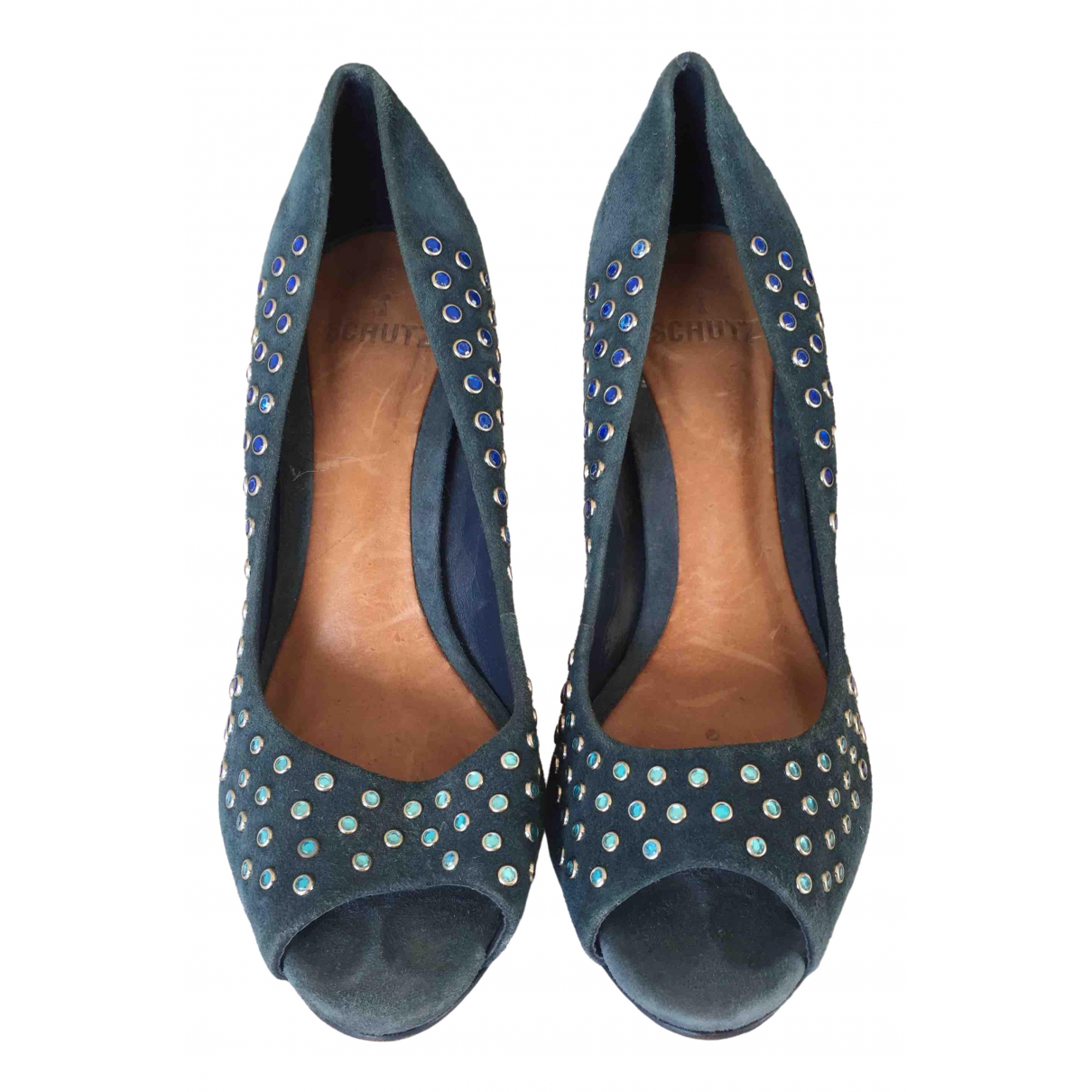 Schutz \N Pumps in  Blau Lackleder