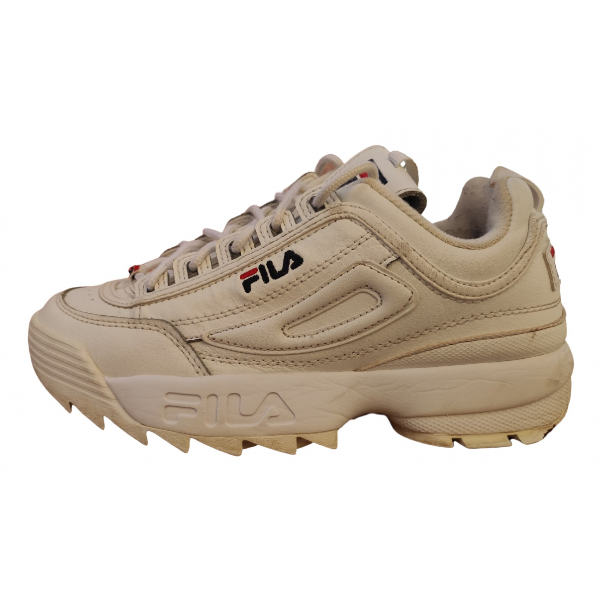 Fila \N White Leather Trainers for Kids 17 FR