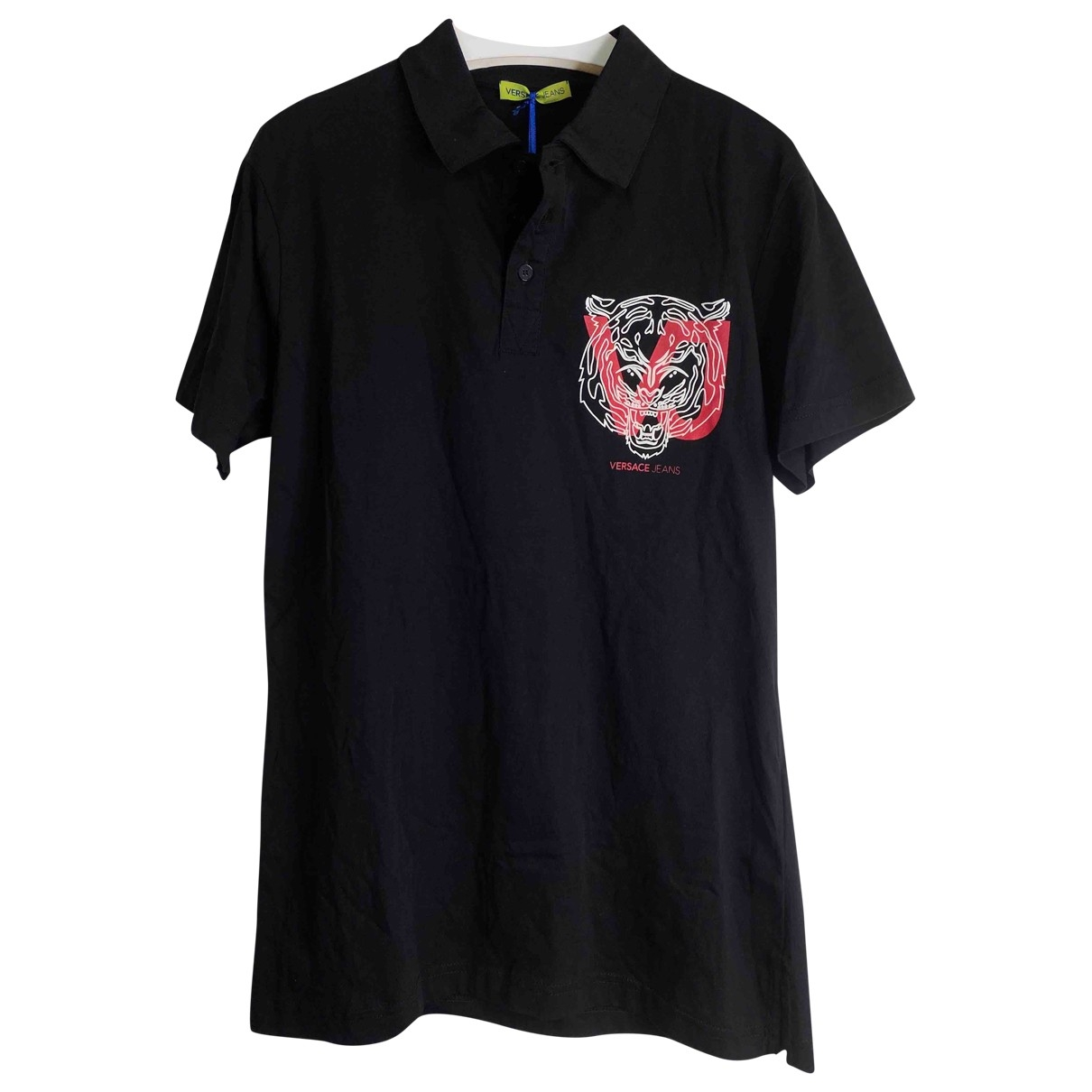 Versace Jeans \N Black Cotton Polo shirts for Men 48 IT