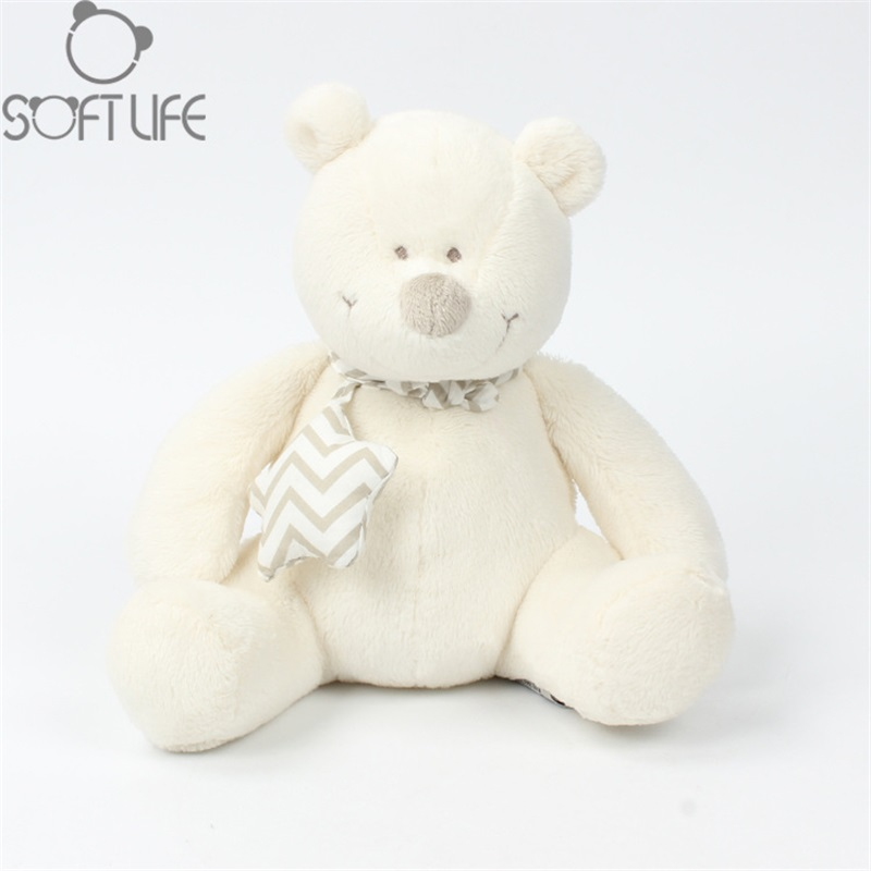 Lovely White Bear Soft Plush Baby Sleep/comforting Pillow Toy