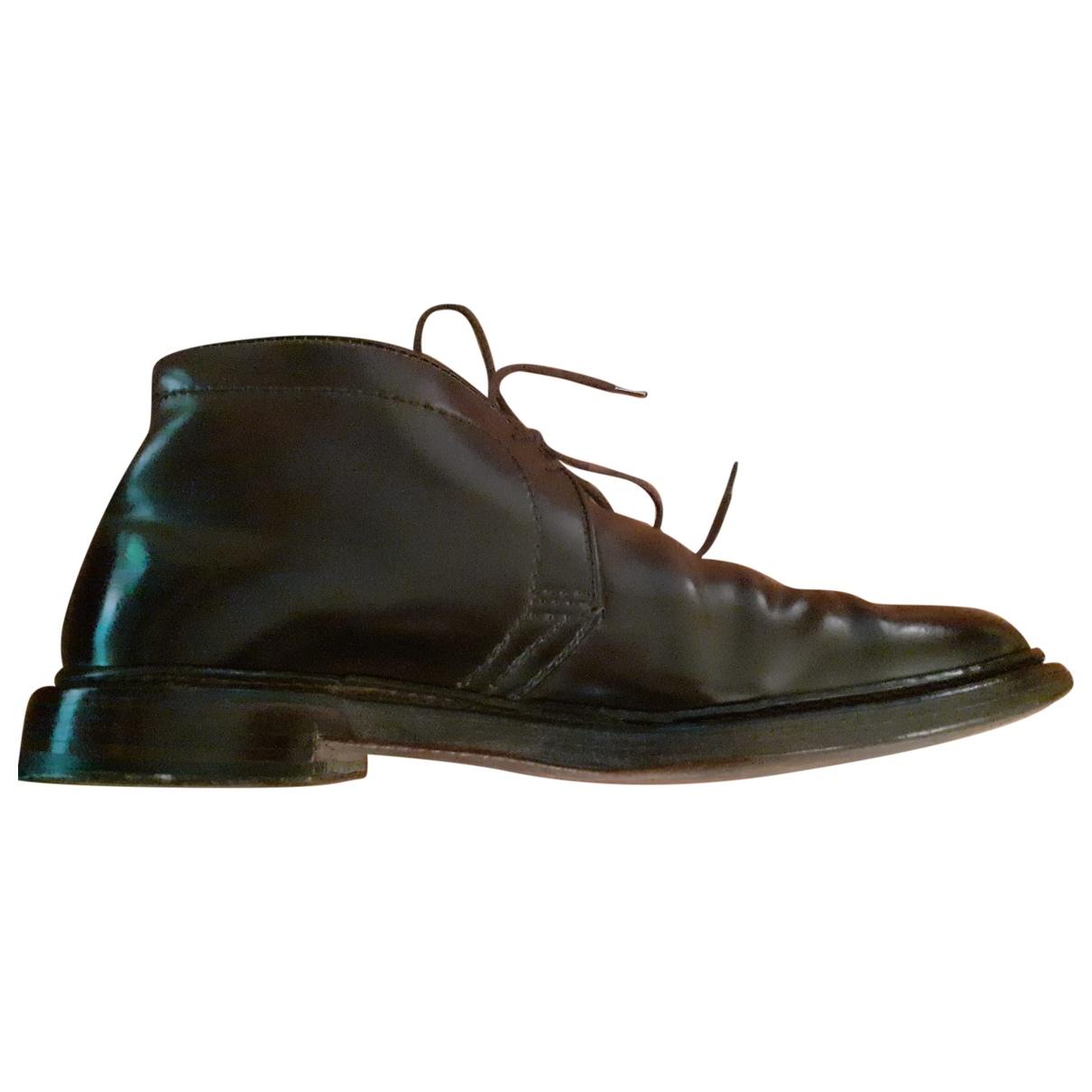 Alden \N Stiefel in  Braun Leder