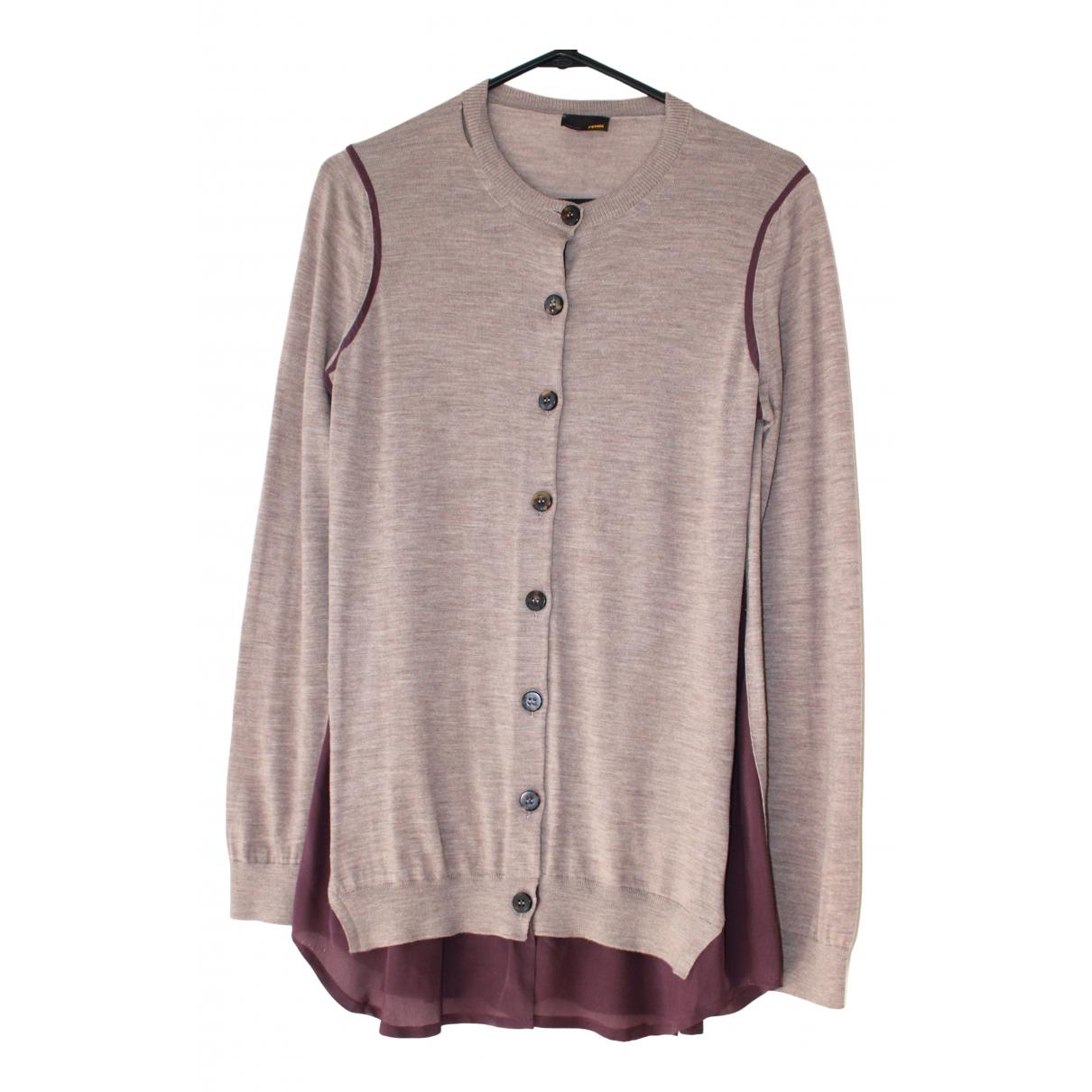 Fendi \N Purple Wool Knitwear for Women 44 IT