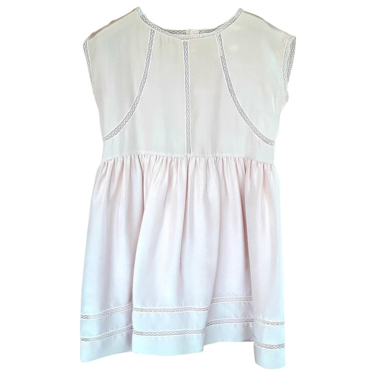 Bonpoint - Robe    pour enfant en soie - rose