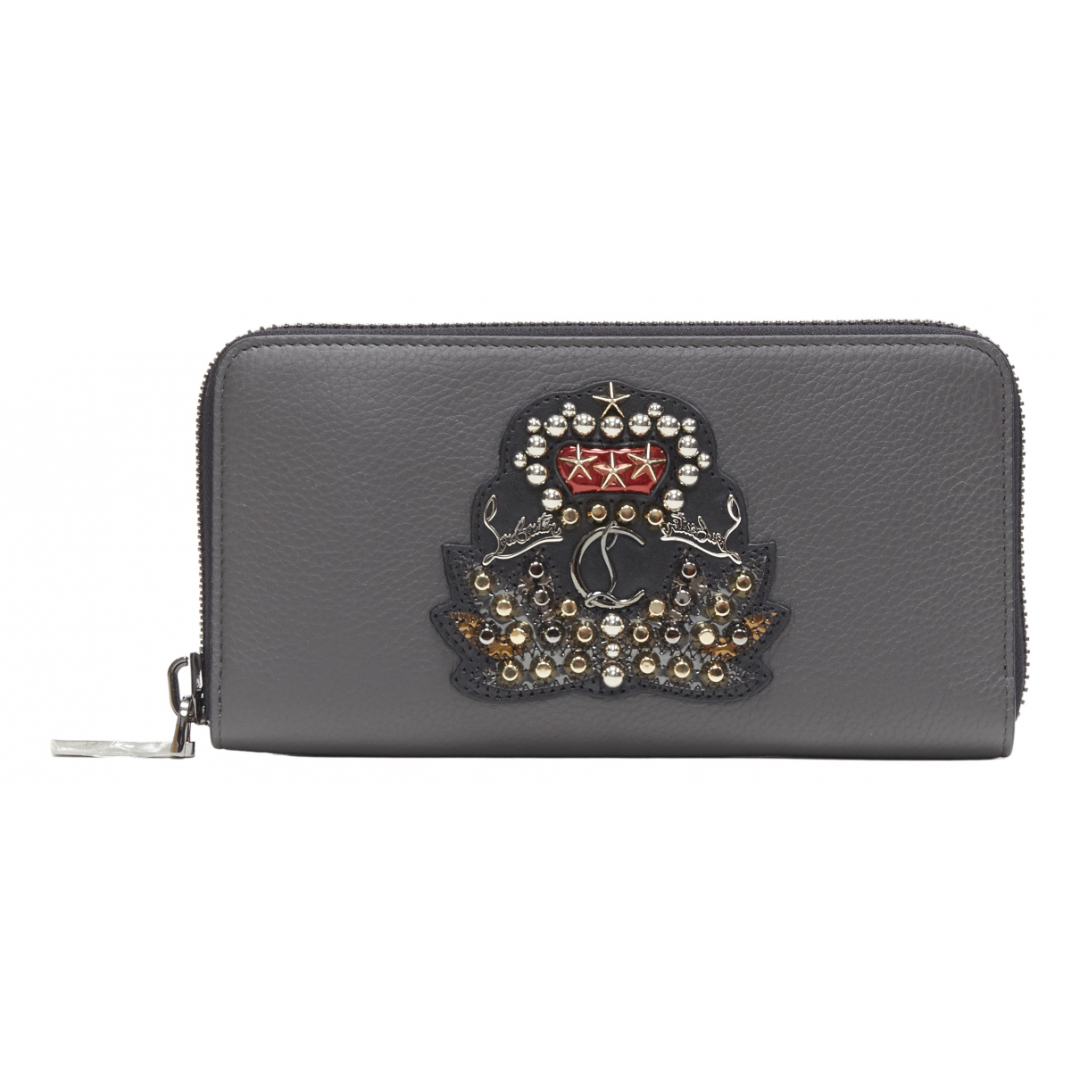 Christian Louboutin N Grey Leather Small bag, wallet & cases for Men N