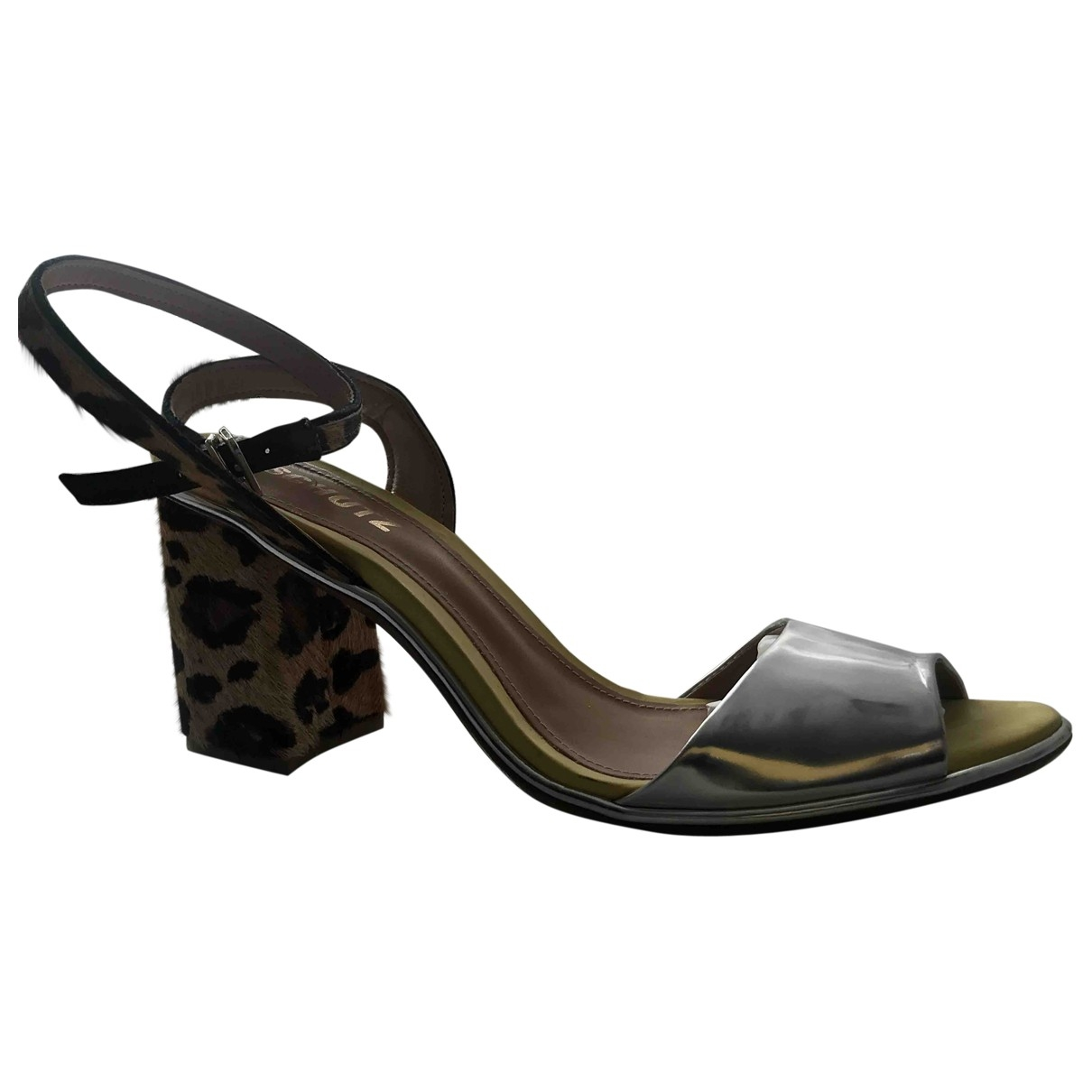 Schutz \N Silver Patent leather Sandals for Women 40 EU
