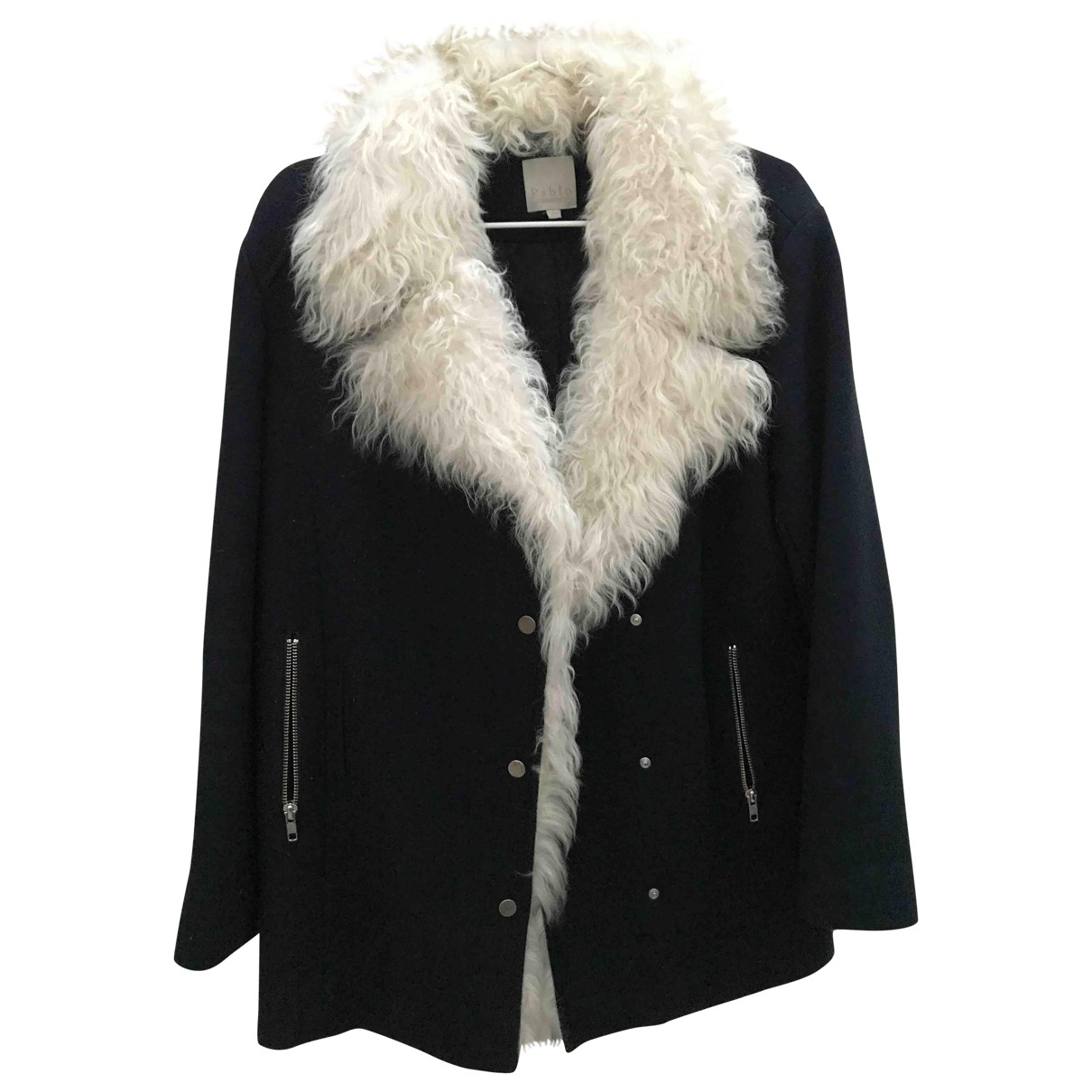 Pablo \N Blue Wool coat for Women 36 FR