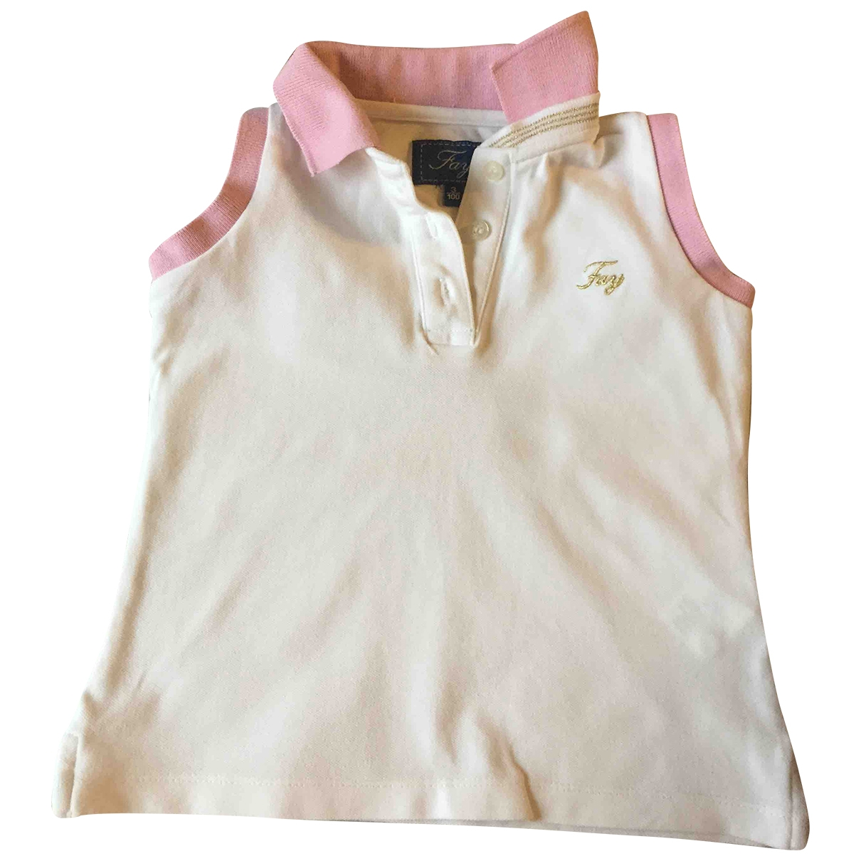 Fay \N White Cotton  top for Kids 3 years - up to 98cm FR